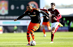 Leon Clarke of Sheffield United runs with the ball - Mandatory by-line: Robbie Stephenson/JMP - 08/04/2017 - FOOTBALL - Sixfields Stadium - Northampton, England - Northampton Town v Sheffield United - Sky Bet League One