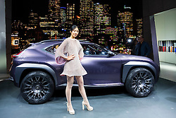 Lexus UX concept crossover vehicle at world premiere at Paris Motor Show 2016