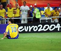 Fotball, 26. juni 2004, EM, Euro 2004, Sverige- Nederland,  Zlatan Ibrahimovic, Sverige