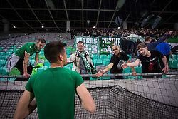 Green Dragons after the football match between NK Olimpija Ljubljana and NK Maribor in Semifinal of Slovenian Football Cup 2016/17, on April 5, 2017 in SRC Stozice, Ljubljana, Slovenia.  Photo by Ziga Zupan / Sportida
