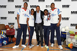 Will Smith, Perri Shakes-Drayton, Yamile Aldama, Drew Sullivan, Anthony Joshua. MIB3 star poses for photos alongside British Olympic hopefuls. Each of the four then demonstrates their sport for the Hollywood star. Smith is in town for the UK premiere of Men In Black 3...Ethos Sports Centre, Imperial College, London, Wednesday May 16, 2012. Photo By Chris Joseph/i-Images
