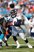 CHARLOTTE, NC - NOVEMBER 11: Von Miller #58 of the Denver Broncos rushes against the Carolina Panthers during the game at Bank of America Stadium on November 11, 2012 in Charlotte, North Carolina. The Broncos won 36-14. (Photo by Joe Robbins) *** Local Caption *** Von Miller