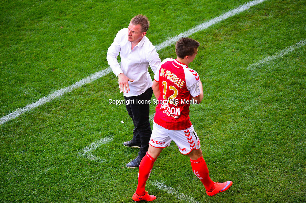 Olivier GUEGAN / Nicolas DE PREVILLE  - 12.04.2015 - Reims / Nice - 32eme journee de Ligue 1 <br />