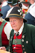 Villager at beer festival in the village of Klais in Bavaria, Germany