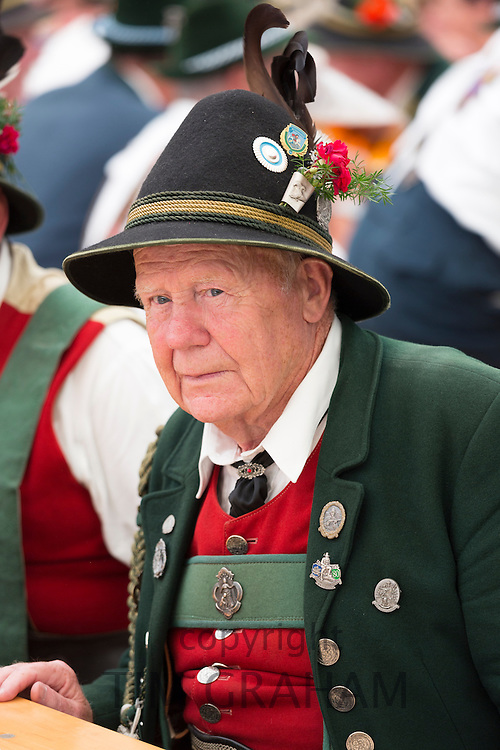 Villager at beer festival in the village of Klais in Bavaria, Germany