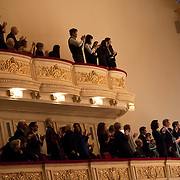 "November 25, 2012 - New York, NY : The audience applauds after the New York Youth Symphony (not pictured) performed Antonín Leopold Dvo?ák's 'Symphony No. 9 in E minor, Op. 95, B. 178, 'From the New World' (1893)"" in Carnegie Hall's Isaac Stern Auditorium on Sunday afternoon. CREDIT: Karsten Moran for The New York Times"