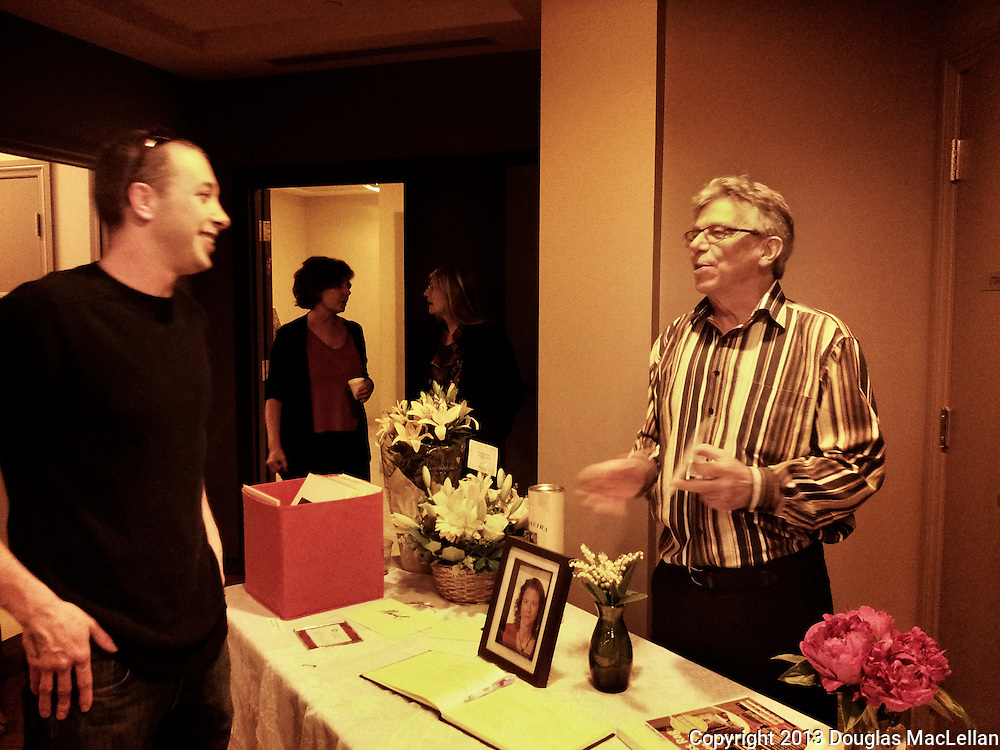 Jason McElhinney and Daivd Ivens at Moira McElhinney's celebration of life event, Toronto, Ontario.