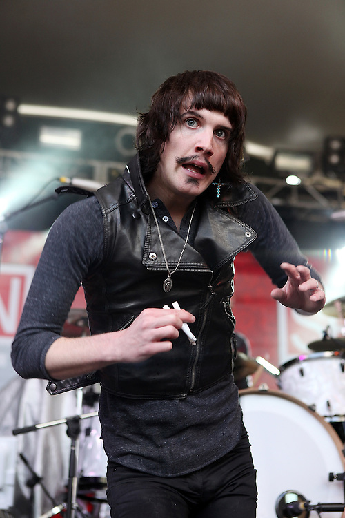 AUSTIN, TX - MARCH 19:  Eric Sean Nally of Foxy Shazam  performs onstage as part of the SPIN Magazine Party at Stubbs-B-B-Q as part of SXSW 2010 on March 19, 2010 in Austin, Texas.  (Photo by Roger Kisby/Getty Images)