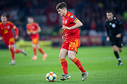 CARDIFF, WALES - Tuesday, November 19, 2019: Wales' Daniel James during the final UEFA Euro 2020 Qualifying Group E match between Wales and Hungary at the Cardiff City Stadium. (Pic by Laura Malkin/Propaganda)