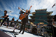 The Band Perry performs at the Crown Royal Presents the Curtiss Shaver 400 at the Brickyard Powered by BigMachineRecords.com at the Indianapolis Motor Speedway on July 29, 2012.