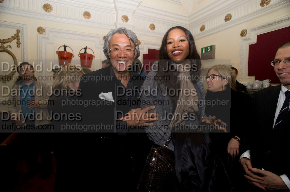 DAVID TANG; NAOMI CAMPBELL, David Tang and Nick Broomfield host  a reception and screening of Ghosts. On the Fifth anniversary of the Morecambe Bay Tragedy to  benefit the Morecambe Bay Children's Fund. The Electric Cinema. Portobello Rd. London W11. 5 February 2009