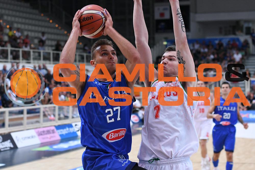 Stefano Tonut<br /> Nazionale Italiana Maschile Senior - Trentino Basket Cup 2017<br /> Italia - Bielorussia Italy - Belarus<br /> FIP 2017<br /> Trento, 29/07/2017<br /> Foto M.Ceretti / Ciamillo-Castoria