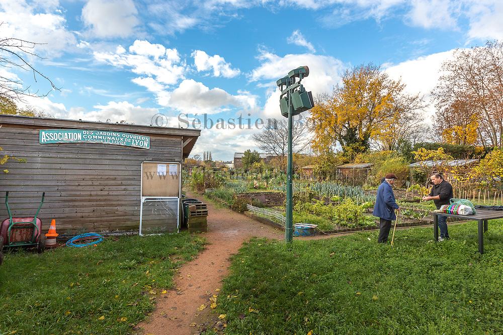 Association des jardins ouvriers de Lyon du parc Gerland // Association of allotment of Gerland park