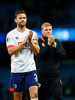 Football - 2018 / 2019 Premier League - Manchester City vs. AFC Bournemouth<br /> <br /> Simon Francis and Eddie Howe manager of Bournemouth at The Etihad.<br /> <br /> COLORSPORT/LYNNE CAMERON