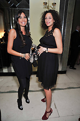 "Left to right, Elisabetta Briatore and Sharlely ""Lilly"" Beckerat a dinner in honour of Dennis Basso in celebration of his new boutique in Harrods held at Claridge's, Brook Street, London on 15th October 2009."