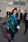 SUZY MENKES, The VIP preview of Frieze. Regent's Park. London. 16 October 2013