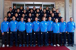Team photo during photo session of Slovenian national football team 2012, on October 14, 2012, in Brdo pri Kranju, Slovenia. (Photo by Vid Ponikvar / Sportida)