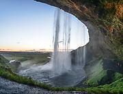 Seljalandsfoss waterfall taken in Southeast Iceland