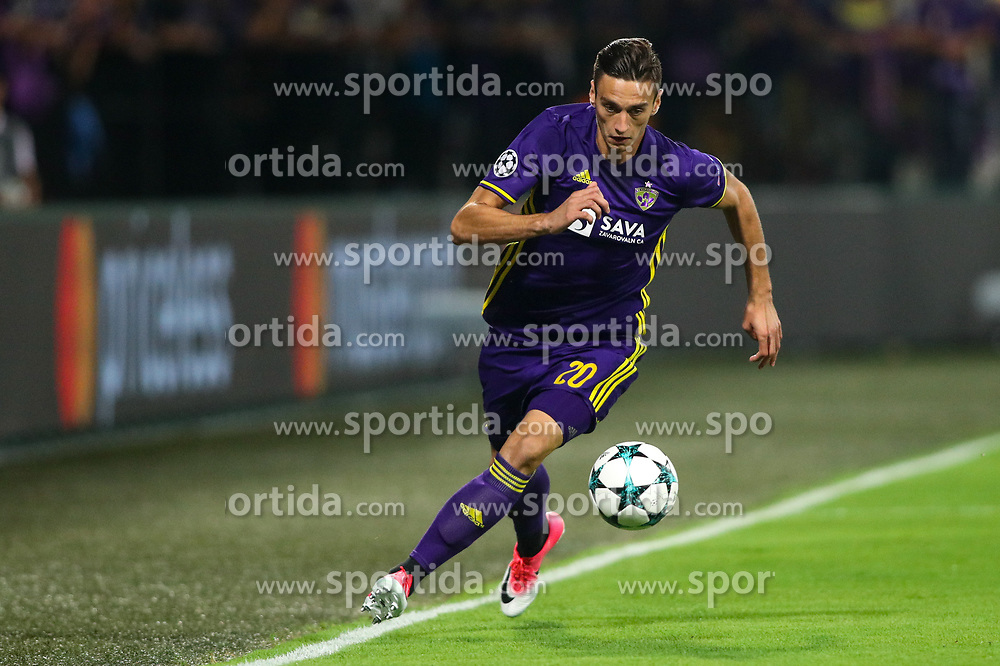 Gregor Bajde of NK Maribor during football match between NK Maribor and Hapoel Beer-Sheva in Second leg of UEFA Champions League playoff round, on August 22 2017 in Ljudski vrt, Maribor, Slovenia. Photo by Morgan Kristan / Sportida