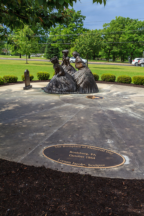 Sculpture of The Birthplace of Memorial Day in Boalsburg