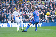 Pablo Hernandez of Leeds United (19) crosses the bvall from deep during the EFL Sky Bet Championship match between Leeds United and Bolton Wanderers at Elland Road, Leeds, England on 23 February 2019.