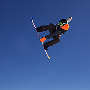 Maximillian Preissinger, Germany, in action during the Snowboard Slopestyle Men's competition at Snow Park, New Zealand during the Winter Games. Wanaka, New Zealand, 21st August 2011. Photo Tim Clayton