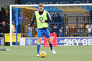 AFC Wimbledon defender Paul Robinson (6) warming up during the EFL Sky Bet League 1 match between AFC Wimbledon and Southend United at the Cherry Red Records Stadium, Kingston, England on 1 January 2018. Photo by Matthew Redman.