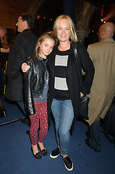 MARIELLA FROSTRUP and her daughter MOLLY McCUE at a performance of Karen Ruimy's show ZIK'R held at the Union Chapel, Islington, London on 21st November 2014.