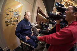 General images during the UCF Knights news conference, December 30, 2017, in Atlanta. Auburn will face UCF in the Chick-fil-A Peach Bowl on January 1, 2018. (Paul Abell via Abell Images for Chick-fil-A Peach Bowl)