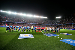 The teams line up - Rogan Thomson/JMP - 22/02/2017 - FOOTBALL - Estadio Ramon Sanchez Pizjuan - Seville, Spain - Sevilla FC v Leicester City - UEFA Champions League Round of 16, 1st Leg.