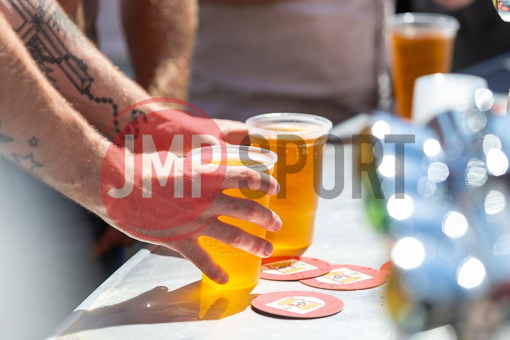 A fan buys some drinks prior to kick off - Ryan Hiscott/JMP - 07/07/2018 - FOOTBALL - Ashton Gate - Bristol, England - Sweden v England, World Cup Quarter Final, World Cup Village at Ashton Gate