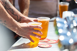 A fan buys some drinks prior to kick off - Ryan Hiscott/JMP - 07/07/2018 - FOOTBALL - Ashton Gate - Bristol, England - Sweden v England, World Cup Quarter Final, World Cup Village at Ashton Gate