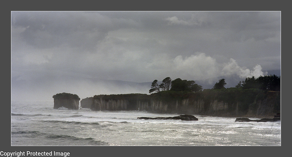 The seacoast of Cape Foul Winds on the west coast of the South Island in New Zealand
