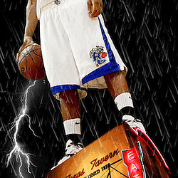 Kyle Green | The Roanoke Times<br /> April 10, 2007 ***Photo Illustration*** Timesland boys basketball player of the year, Marcus Mayo, senior, from Rockbridge County High School.