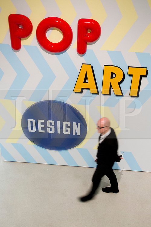 """© Licensed to London News Pictures. 21/10/2013. London, England. The Exhibition """"Pop Art Design"""" opens at the Barbican Art Gallery/Barbican Centre running from 22 October 2013 to 9 February 2014. The exhibition brings together 200 works by 70 artists and designers including Peter Blake, Andy Warhol and Roy Lichtenstein. Photo credit: Bettina Strenske/LNP"""