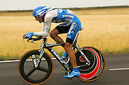 George Hincapie during the 2005 Tour de France stage 1 time trial.