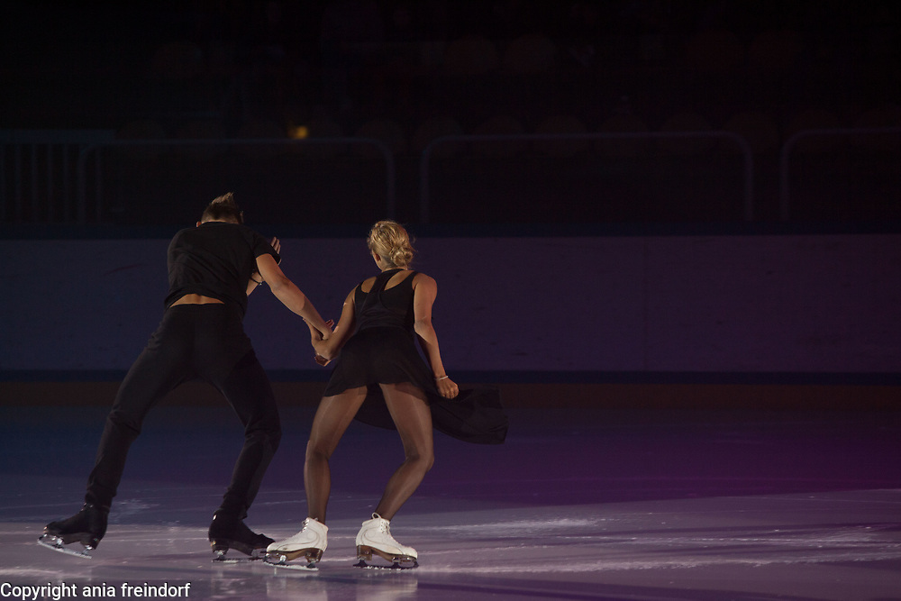 International Ice Skating Gala, Courchevel, France, 20 July 2017, Carolina Portesi Peroni, Michael Chratecky, members of the Junior National Team of Italy