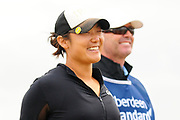Tiffany Joh is all smiles before starting her round at the Aberdeen Standard Investments Ladies Scottish Open 2018 at Gullane Golf Club, Gullane, Scotland on 28 July 2018. Picture by Kevin Murray.