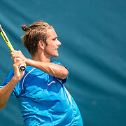 August 20, 2016, New Haven, Connecticut: <br /> Gage Brymer in action during a US Open National Playoffs match at the 2016 Connecticut Open at the Yale University Tennis Center on Saturday, August  20, 2016 in New Haven, Connecticut. <br /> (Photo by Billie Weiss/Connecticut Open)