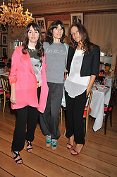 Left to right, TANIA FARES, BELLA FREUD and LULU KENNEDY at a lunch to celebrate the the Lulu & Co Autumn/Winter 2011 collection held at Harry's Bar, 26 South Audley Street, London W1 on 21st June 2011.