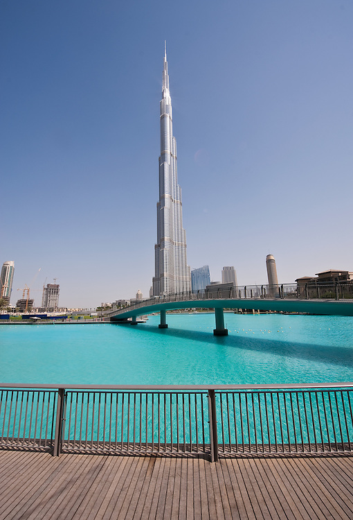 The Burj Khalifa, the world's tallest building in Dubai, United Arab Emirates.