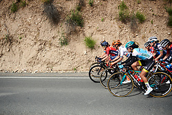 Amber Neben (USA), Ashleigh Moolman Pasio (RSA) and Carolina Rodriguez Gutierrez (MEX) set the pace at Amgen Tour of California Women's Race empowered with SRAM 2019 - Stage 3, a 126 km road race from Santa Clarita to Pasedena, United States on May 18, 2019. Photo by Sean Robinson/velofocus.com