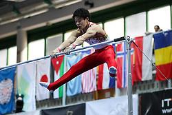 Kazuyuki Takeda of Japan at Horizontal Bar during Finals of Artistic Gymnastics FIG World Challenge Koper 2018, on June 3, 2017 in Arena Bonifika, Koper, Slovenia. Photo by Matic Klansek Velej/ Sportida