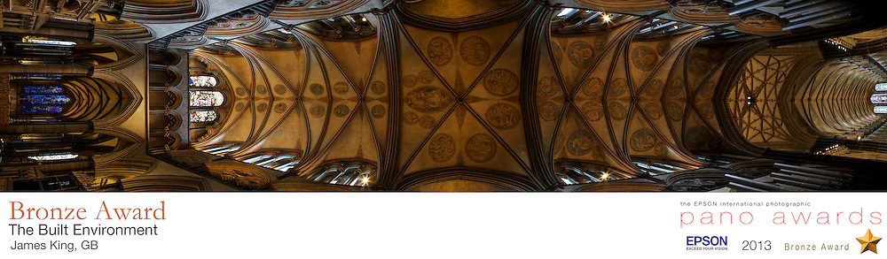 Standing beneath the vaulted ceilings of Salisbury Cathedral I was stunned<br /> by the craftsmanship, beauty and lighting of this holy place.<br /> <br /> The EPSON International Pano Awards 2013<br /> BRONZE AWARD<br /> Amateur: The Built Environment<br /> (including architecture)<br /> Score: 76