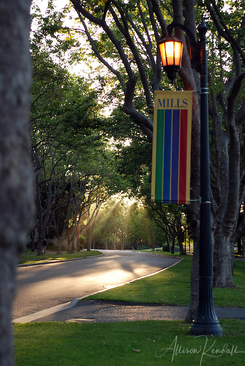 Scenes and details from the campus of Mills College in Oakland, California