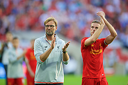 LONDON, ENGLAND - Saturday, August 6, 2016: Liverpool's manager Jürgen Klopp after the 4-0 victory over FC Barcelona during the International Champions Cup match at Wembley Stadium. (Pic by David Rawcliffe/Propaganda)
