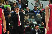 DESCRIZIONE : Campionato 2014/15 Dinamo Banco di Sardegna Sassari - Victoria Libertas Consultinvest Pesaro<br /> GIOCATORE : Sandro Dell'Agnello<br /> CATEGORIA : Allenatore Coach Delusione<br /> SQUADRA : Victoria Libertas Consultinvest Pesaro<br /> EVENTO : LegaBasket Serie A Beko 2014/2015<br /> GARA : Dinamo Banco di Sardegna Sassari - Victoria Libertas Consultinvest Pesaro<br /> DATA : 17/11/2014<br /> SPORT : Pallacanestro <br /> AUTORE : Agenzia Ciamillo-Castoria / M.Turrini<br /> Galleria : LegaBasket Serie A Beko 2014/2015<br /> Fotonotizia : Campionato 2014/15 Dinamo Banco di Sardegna Sassari - Victoria Libertas Consultinvest Pesaro<br /> Predefinita :
