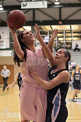 08 February 2014:  Kasey Reaber during an NCAA women's division 3 CCIW basketball game between the Elmhurst Bluejays and the Illinois Wesleyan Titans in Shirk Center, Bloomington IL
