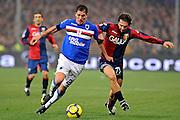 © Filippo Alfero<br /> Genoa vs Sampdoria - Serie A 2009 / 2010<br /> Genova - 28/11/2009<br /> sport calcio<br /> Nella foto: Cacciatore and Milanetto