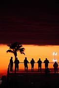 January 22-26, 2020. IMSA Weathertech Series. Rolex Daytona 24hr. Spectators at sunrise